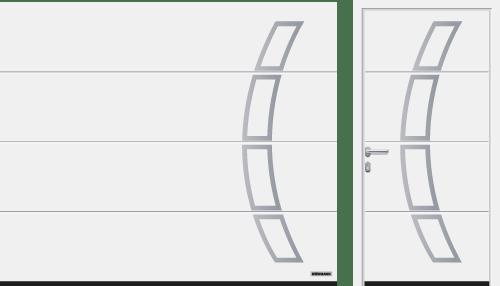 Przetłoczenia L (LPU 67 Thermo, LPU 42), wzór 457, kolor biały RAL 9016