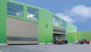 zielony hangar